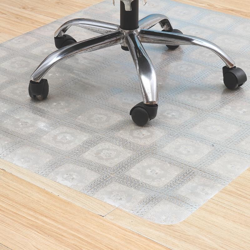 Color Wood floor protection mat computer chair mat Swivel chair pvc carpet Anti-scratch floor mat Door mat Plastic non-slip rug
