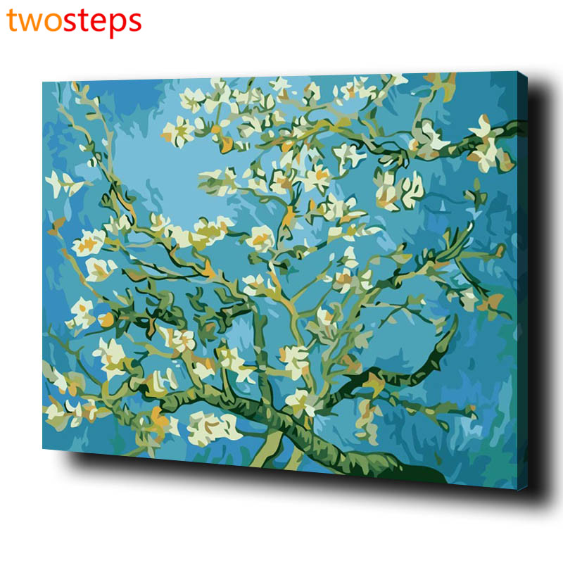 TwoSteps DIY Digital Canvas Oil Painting By Numbers Frameless Coloring By Numbers Large Acrylic ...