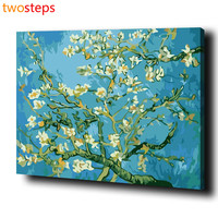 TwoSteps DIY Digital Canvas Oil Painting By Numbers Frameless Coloring By Numbers Large Acrylic Paint By