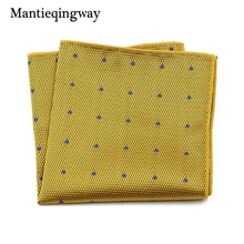 Mens Suits Polyester Handkerchiefs Woven Floral Pocket Square Hankies Chest Towel Formal Striped Wedding Pockets Hanky