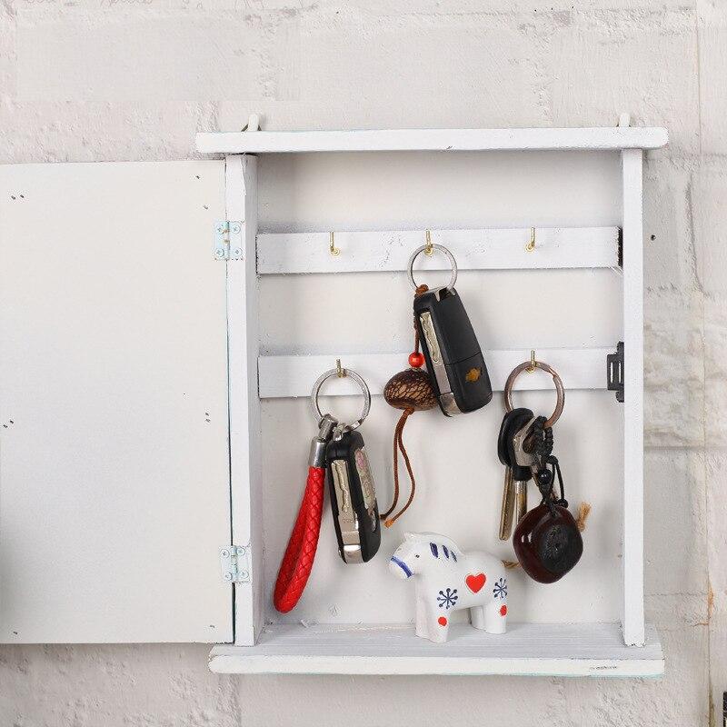 Caja decorativa para colgar en la pared, estilo rústico, Vintage, antiguo, de madera maciza, almacenamiento de decoración para el hogar, estantes 22*6,5*26cm Estante de baño Sokoltec hw47885wh