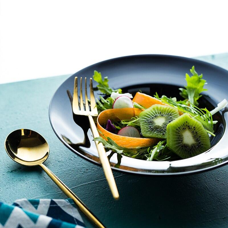 NIMITIME European Style Straw Hat Shape Plate Light Western Food Plate sHousehold Deep Dish Soup Plate Dish Tableware