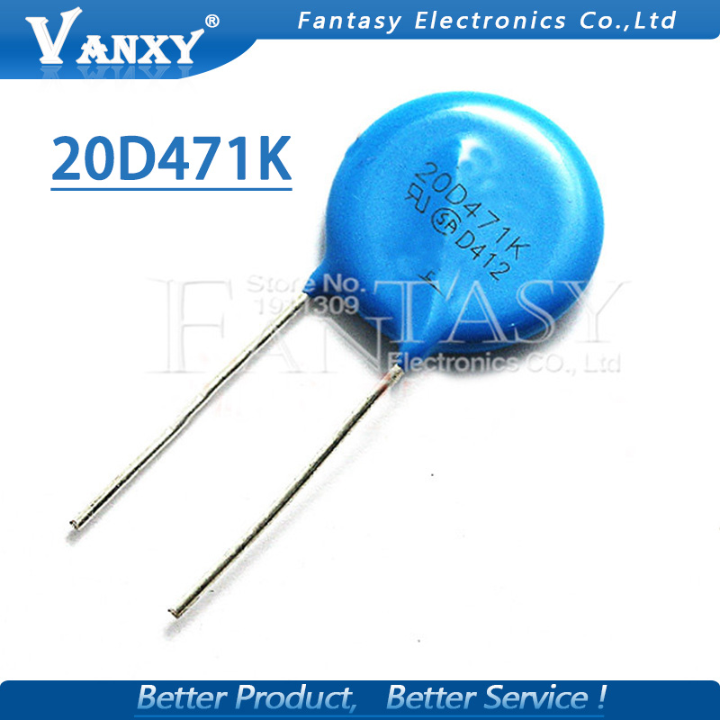 5pcs Varistor 20D471K 470V Piezoresistor 20D471