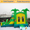 Best Quality Jungle Theme Inflatable Air Bouncer Trampoline Combo with Slide for kids