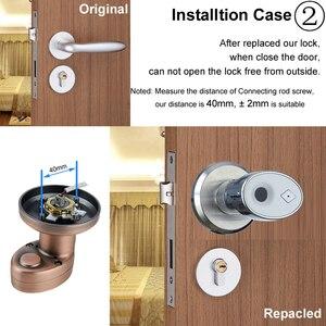 Image 4 - RAYKUBE Knob Electronic Lock Fingerprint Smart Keyless Deadbolt Lock For Home Office Easy Installtion Replaced R S178