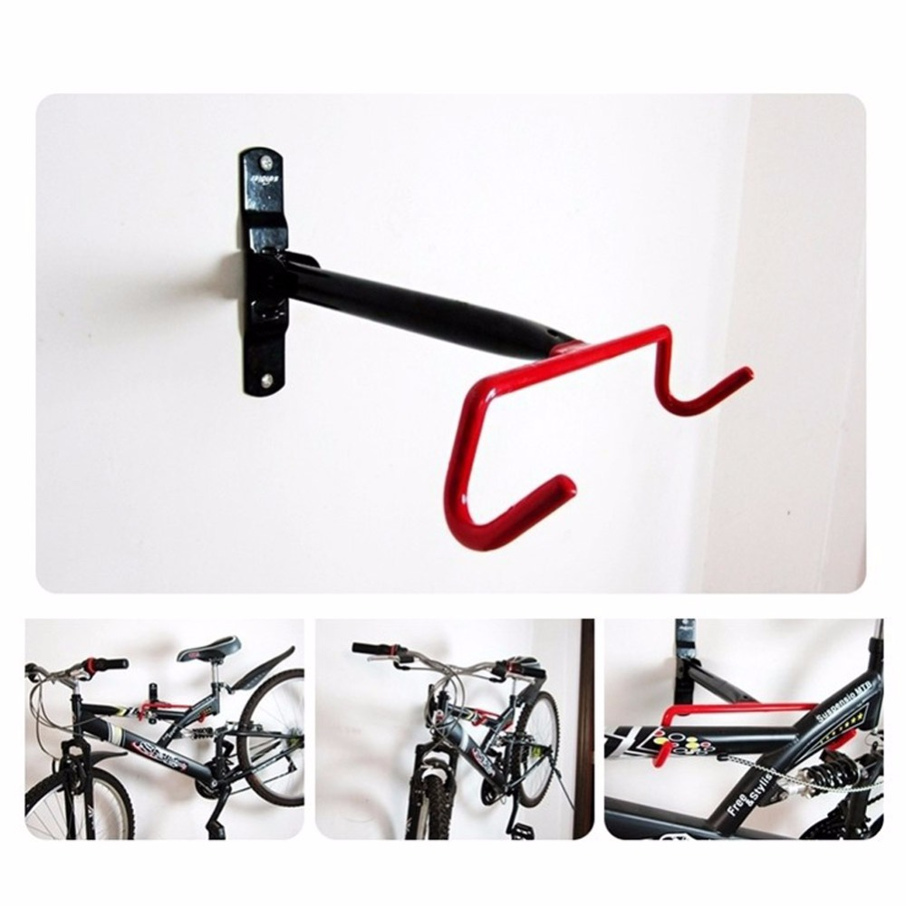 Iron Bike Wall Mount bicycle Wall holder Cargo Racks Steel Hook Fold Down Bicycle Parking Racks Hanger Strong Mount Hook Holder guitar wall mount hanger hook holder stand display