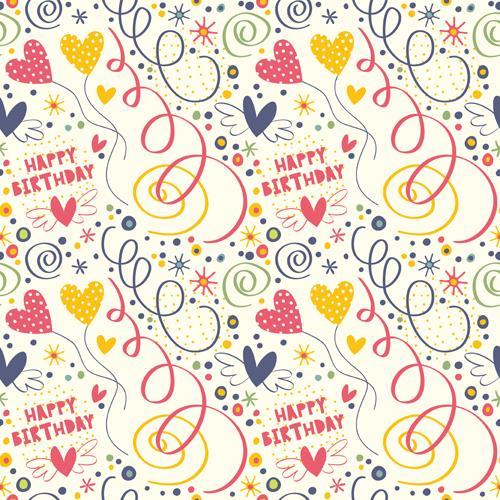 HUAYI Happy Birthday Wallpaper Backdrop Art Fabric Custom