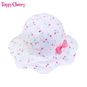 0a8368257520a Happy Cherry Girls Accessories Baby Bucket Hat Kids Cap