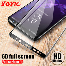 YOYIC 6D Full Cover Tempered Glass For Samsung Galaxy S8 S9 Plus Note 8 9 Screen Protector For Samsung S7 S6 Edge Glass Film(China)