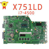 Original For ASUS X751LD X751L K751L K751LN REV 2 3 Laptop Motherboard USB3 0 DDR3 With
