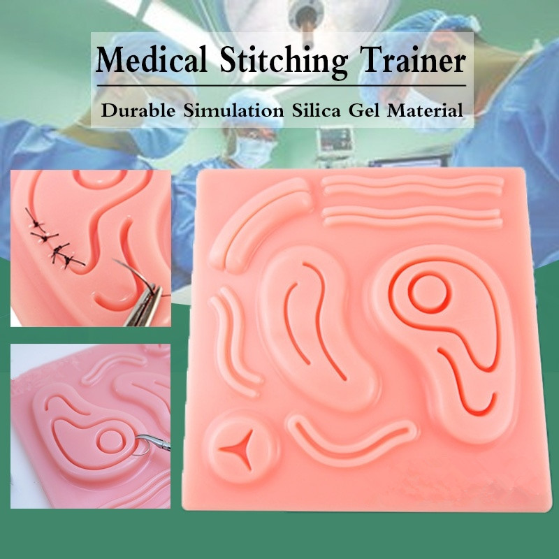 3D Lifelike Laparoscopic Simulator  Skin Suture Pad Medical Training Simulators Suture Practice Kit Medical Instruments Teaching
