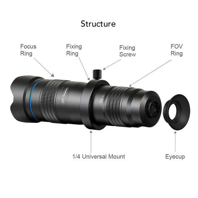 APEXEL Optic phone camera lens HD 28X metal telescope lens monocular with mini selfie tripod for iPhone 78 Xiaomi all Smartphone 1