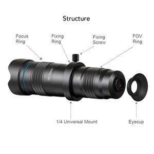 Image 2 - APEXEL Optic phone camera lens HD 28X metal telescope lens monocular with mini selfie tripod for iPhone 78 Xiaomi all Smartphone