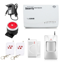 Free Shipping Wireless GSM Alarm System Security Home Alarm English Voice With PIR Detector SMS Call