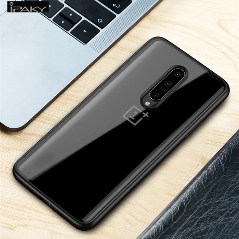 OnePlus 7 için Kılıf IPAKY 7 Pro Durumda Şeffaf Darbeye - Cep Telefonu Yedek Parça ve Aksesuarları - Fotoğraf 6