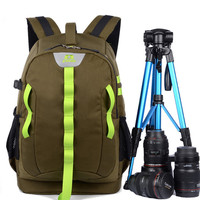 2017 New Multifunctional Digital DSLR Camera Backpack Oxford Cloth Photography Bag Laptop Case Anti Theft For
