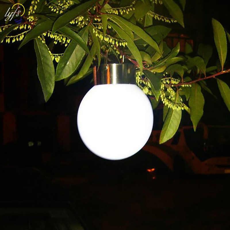 LYFS уличная Водонепроницаемая Солнечный шар лампы светодиодные светильники на солнечной батарее портативный светильник для кемпинга для внешних декор для сада солнечный светильник