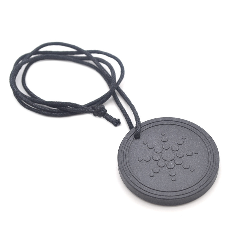 daily vogue Lychee Quantum Black Circular 1 Pc Health Care Sun Pattern Necklace Pendant Gifts New Jewelry