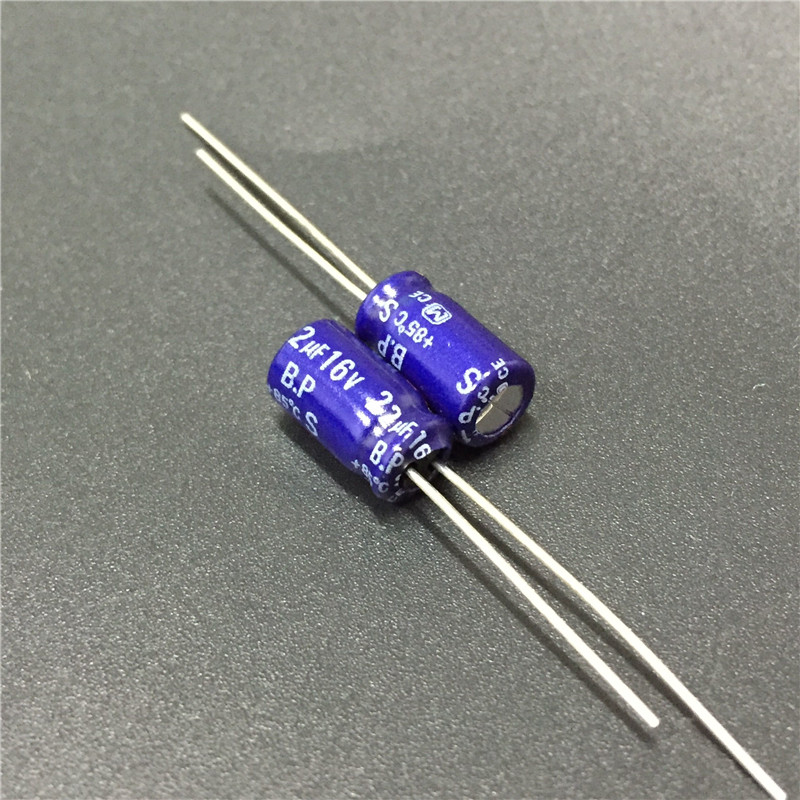 10pcs 22uF 16V S-BP Series 6.3x11mm 16V22uF Bipolar Audio Capacitor