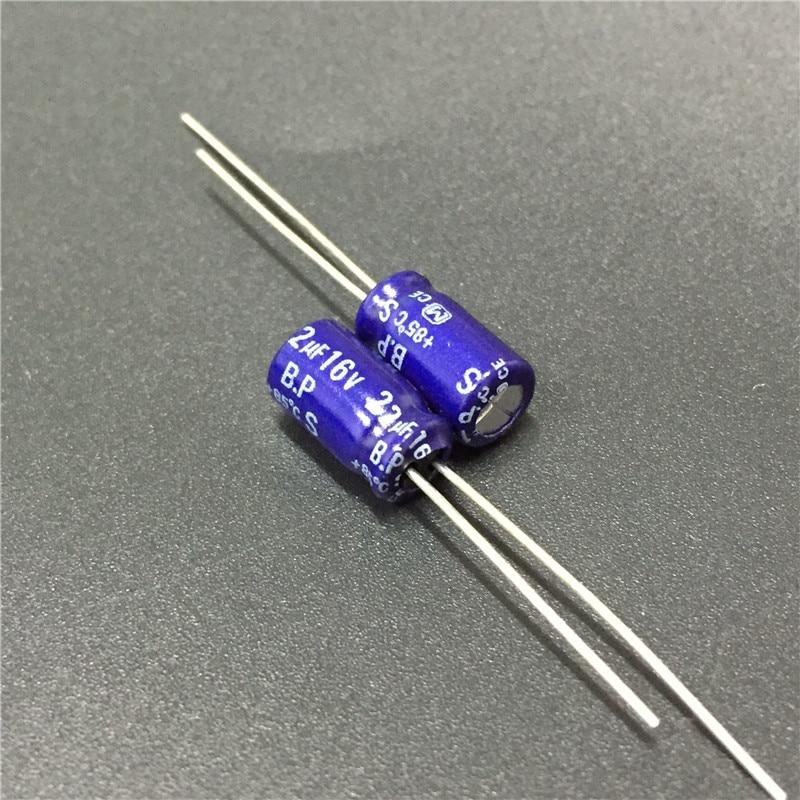 10pcs 22uF 16V S-BP Series 6.3x11mm 16V22uF Bipolar Audio Capacitor