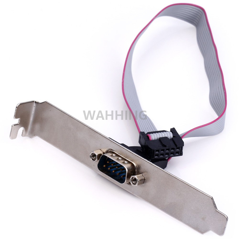 New PCI To COM 9 Pin RS232 RS-232 Serial Port COM Extension Cable Adapter 9Pin DB9 Bracket Computer Cable HY1266 4 port serial rs232 rs 232 com port to pci e express pcie adapter with cable 9904 chip