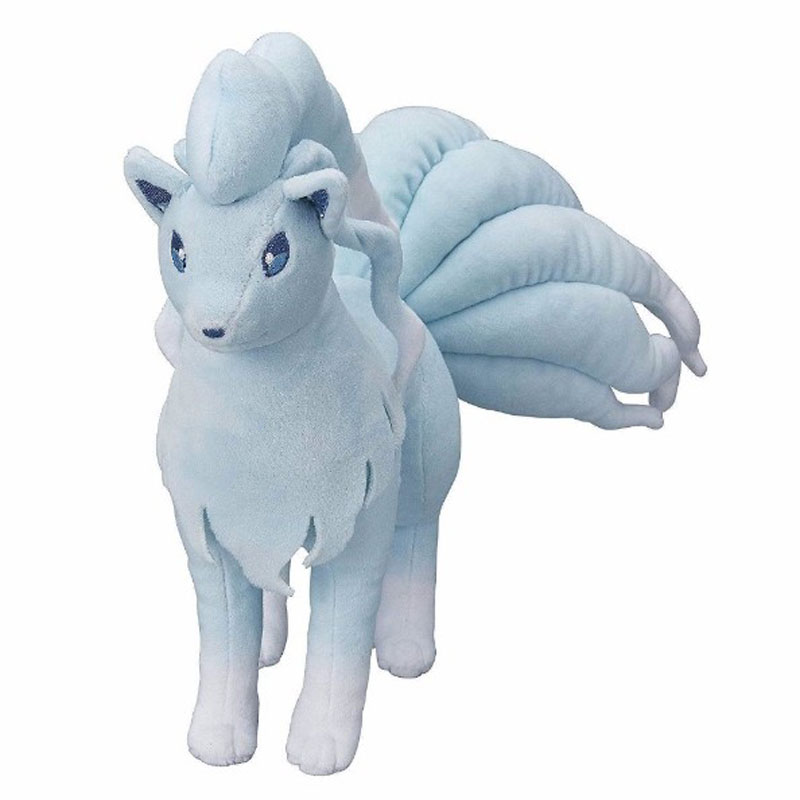 2017 Sun & Moon Alola Ninetales Nine Tails Fox Stuffed Soft Doll 10inch 25CM Plush Toy Free Shipping