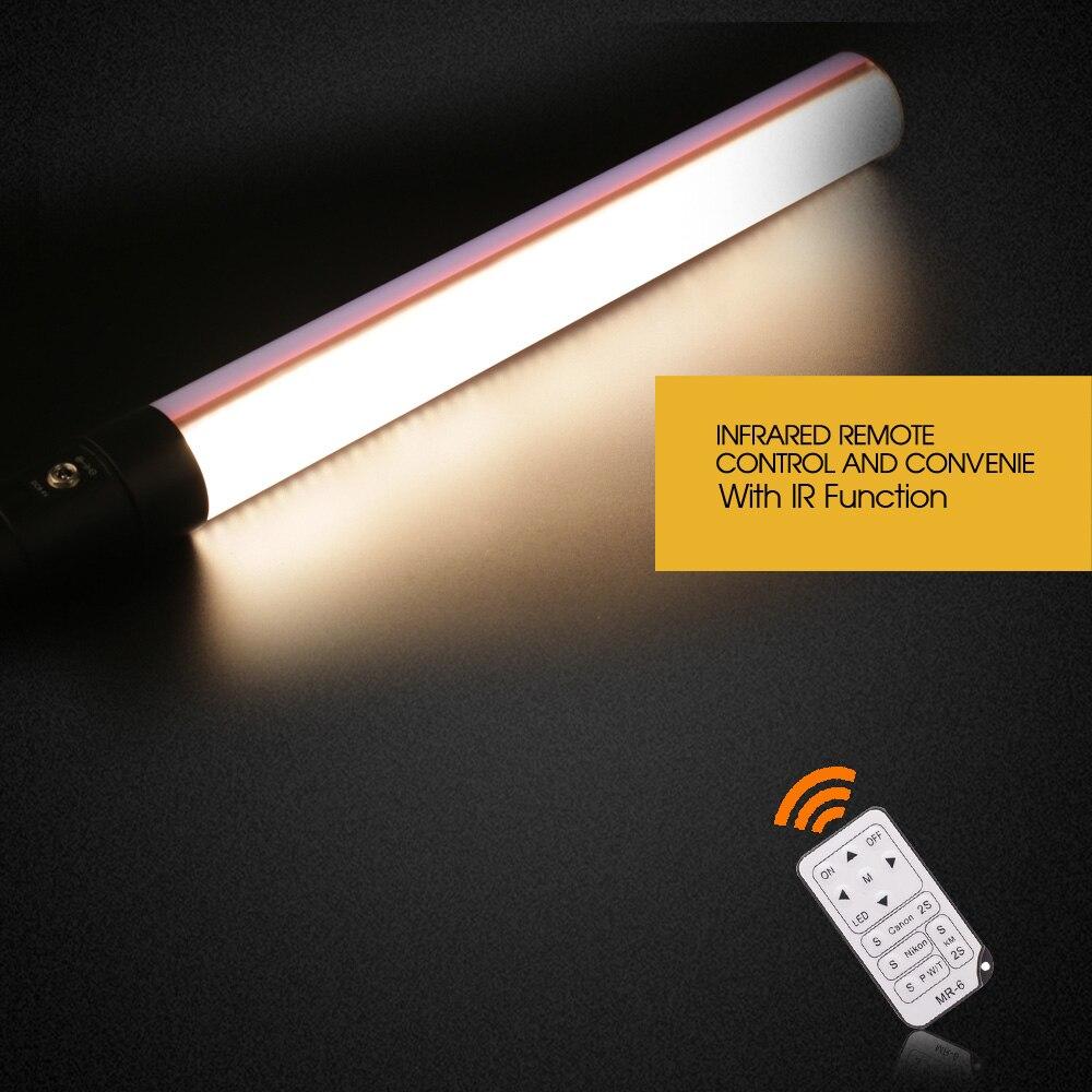 Travor STL-900 LED Vidéo Lumière De Poche LED Lumière Photographique 3200K5500K comme Icelight avec NP-F550 Rechargeable Li-ion batterie - 2
