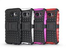 S6 teléfono caso único Grenade Grip Rugged caucho piel cubierta de stent para Samsung Galaxy S6 G9200 silicona caso anti- dust hard stand