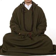 6 цветов, темно-зеленый/красный/серый/коричневый, унисекс, хлопковый плащ для медитации, буддизм, монахи, накидка, теплые костюмы, robeclothing, Весна и зима