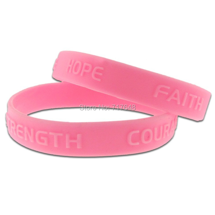 100pcs Pink Blue Purple Red Hope Faith Courage Strength