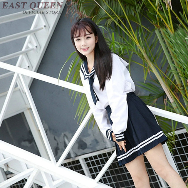 Uniforme escolar japonês para meninas roupa bonito do kawaii coreano  uniforme escolar roupas estudante terno de 0412bfd36c1