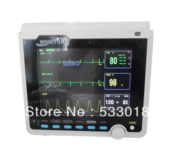 CMS6000B Multi Parameter Monitor, Patient Monitor for VET Veterinary Use, CE Approved with fast shipping abpm50 ce fda approved 24 hours patient monitor ambulatory automatic blood pressure nibp holter with usb cable