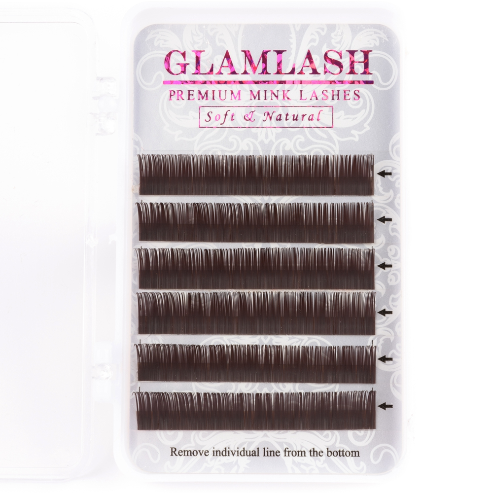 GLAMLASH 5 Cases Lot Free shipping Cheap Professional Salon Use Soft Natural Mink Eyelashes Extension Color Lash in False Eyelashes from Beauty Health