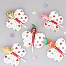 new 50pcs lollipop cover yellow butterfly design children birthday wedding candy decorate holiday Christmas gift packaging