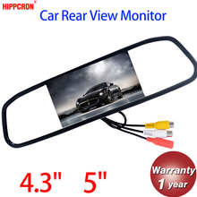 Car Monitor 4.3″ 5″Screen For Car Rear View Reverse Camera TFT LCD Rear view Mirror Display 4.3 Inch 5 Inch Color HD