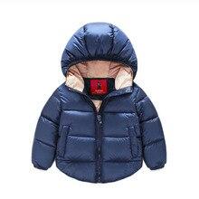 Общие зимний комбинезон новорожденный верхняя детский теплые куртки мальчик ребенок пальто