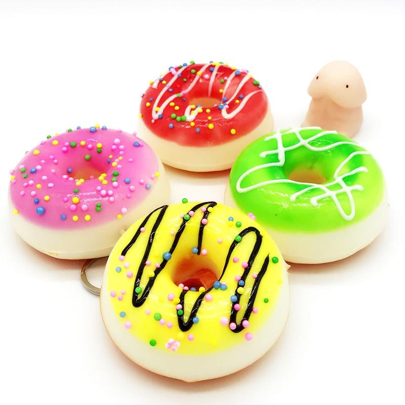 Squishy Slow Rising Cute Doughnut Wanna One Squishy Jumbo Toys Squeeze Kawaii Squishies Lanyard For Keys Squishy Cake