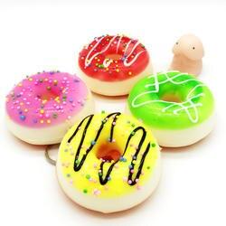 Мягкими замедлить рост милый пончик хочу один мягкими мягкие игрушки squeeze kawaii squishies ремешок для ключей сдавливаемый торт