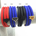 Luxury high top quality super fiber leather with stainless steel metal color bracelet wristband
