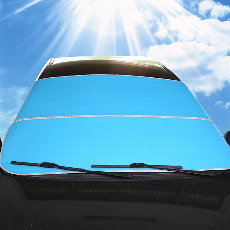 78 inç X 37 inç Güneş Gölge Araba Su Geçirmez Funda Coche Kapakları Araba Styling Kış Cam Kar Kapak Dacia Duster Güneş kapak