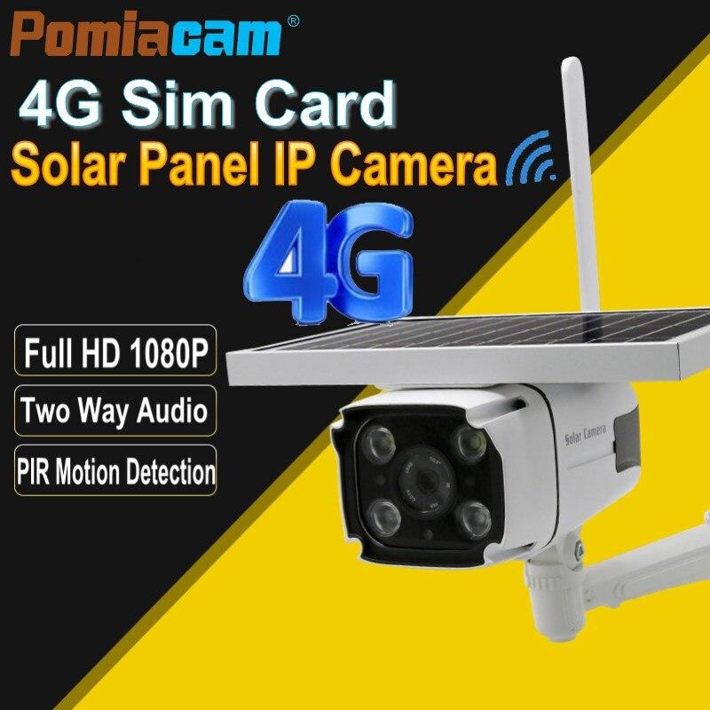 YN88 4G Solar IP Camera 2 0MP Wireless GSM 4G SIM Card Outdoor Security CCTV Camera