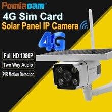 YN88 4G Câmera IP Solar 2.0MP 4G Cartão SIM GSM Sem Fio Ao Ar Livre Câmera De Segurança CCTV com Painel Solar carregamento de bateria Embutida