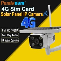 YN88 4G Solar IP Camera 2.0MP Wireless GSM 4G SIM Card Outdoor Security CCTV Camera with Solar Panel Charging Built in battery