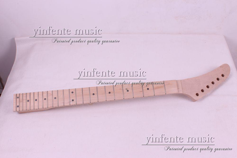 one pcs electric guitar neck high quality maple with maple fingerboard one electric bass guitar neck high quality maple made with ebony fingerboard 21 fret