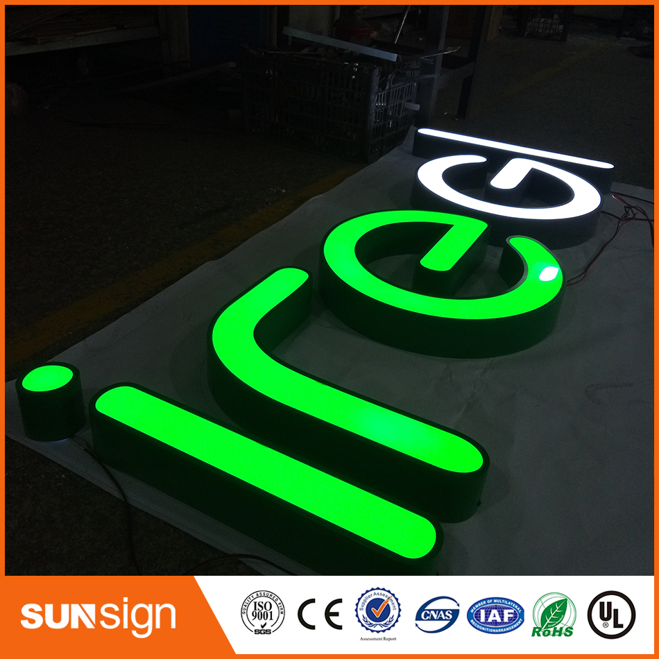 Custom Storefront Decorative LED Lighted Stainless Steel Signage Letters(China)