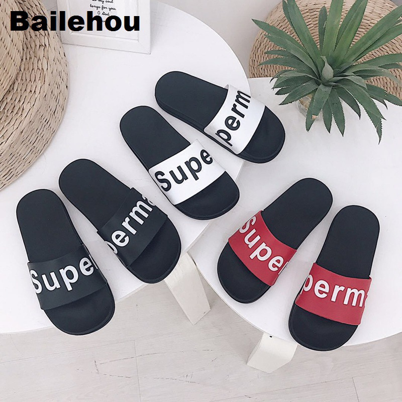 Bailehou Women Slippers Flat Casual Shoes Slip On Slides Beach Flip Flops Sandal Home Slipper Beautiful Word Summer Soft Sandals 2018 summer ladies thick bottom drag slope beach shoes for women casual non slip flat bottomed slippers female slides shoes