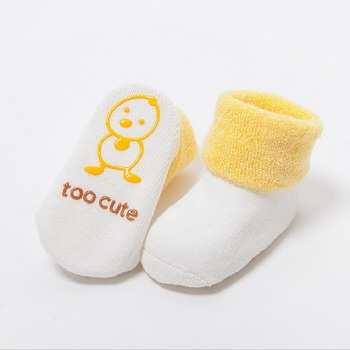 Cotton Baby Socks For Baby Girl Baby Boy Calcetines Bebe Toddler Newborn Infant Anti Slip Floor Socks With Rubber Soles KF034-1 1