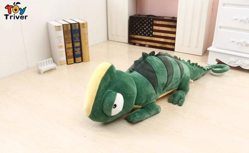 Kawaii Plush Green Lizard Chameleon Iguana Toy Giant Stuffed Animal Doll Baby Kids Children Birthday Gift Home Shop Decor Triver in Stuffed Plush Animals from Toys Hobbies