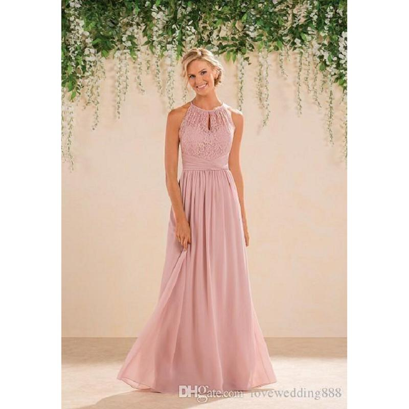 New Jasmine Blush Pink Bridesmaid Dresses 2017 Country