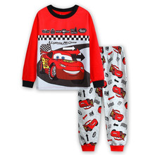 Купить с кэшбэком 16 Design Kids Cotton Pajamas Children Sleepwear Baby Pajamas Sets Boys Girls  cartoon long-sleeved car pyjamas cotton nightwear